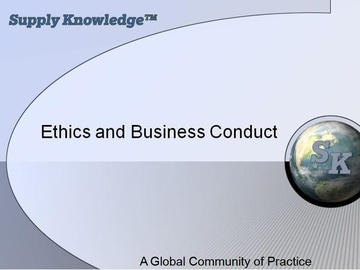 Business Ethics in Procurement