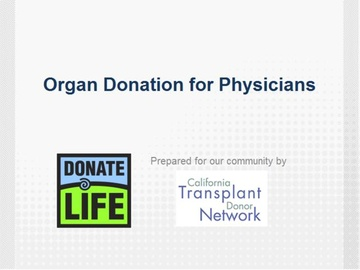 Organ Donation for Physicians