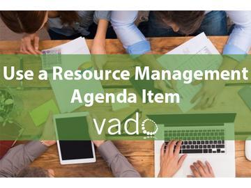 Use a Resource Management Agenda Item