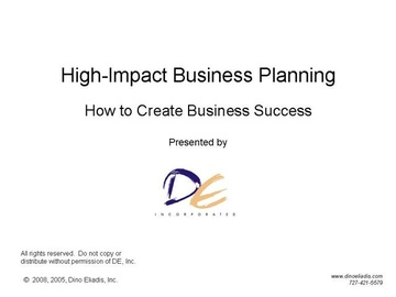 High-Impact Business Planning Course