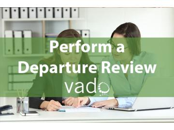Perform a Departure Review