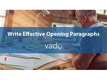 Write Effective Opening Paragraphs
