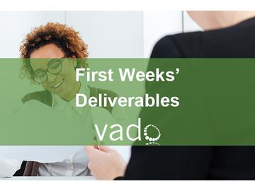 First Weeks' Deliverables
