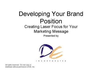 Brand Positioning - Creating Your USP - Video