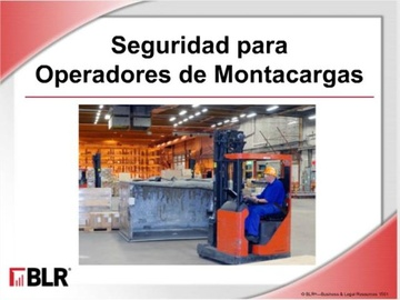 Seguridad Para Operadores De Montacargas HTML 5 (Forklift Operator Safety HTML 5) Course