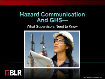 Hazard Communication and GHS - What Supervisors Need to Know (HTML 5) Course