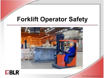 Forklift Operator Safety (HTML 5) Course