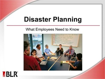 Disaster Planning - What Employees Need to Know (HTML 5) Course