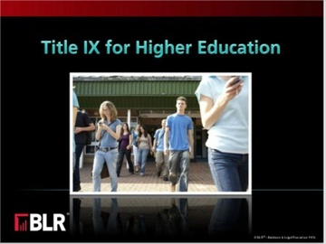 Title IX for Higher Education (HTML 5) Course