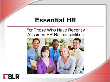 Essential HR: For Those Who Have Recently Assumed HR Responsibilities Course
