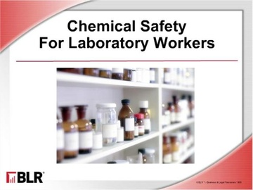Chemical Safety for Laboratory Workers