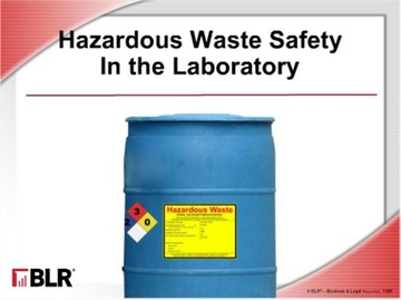 Hazardous Waste Safety in the Laboratory Course