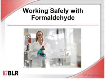 Working Safely with Formaldehyde Course