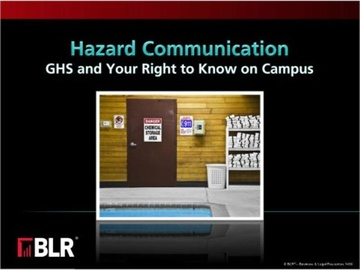 Hazard Communication: GHS and Your Right to Know on Campus (HTML 5) Course