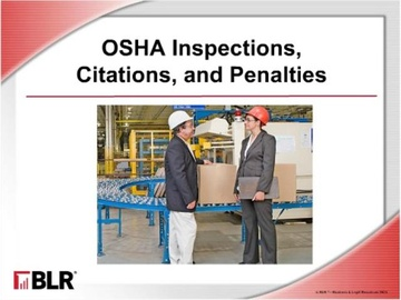 OSHA Inspections, Citations, and Penalties Course