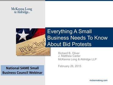 Everything a Small Business Needs to Know About Bid Protests