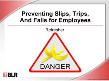 Preventing Slips, Trips, and Falls for Employees: Refresher (HTML 5)