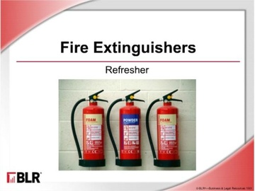 Fire Extinguishers: Refresher (HTML 5) Course