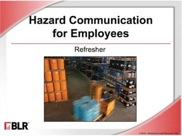 Hazard Communication for Employees: Refresher (HTML 5) Course
