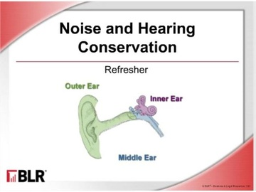 Noise and Hearing Conservation: Refresher (HTML 5) Course