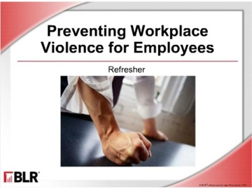 Preventing Workplace Violence for Employees: Refresher (HTML 5) Course