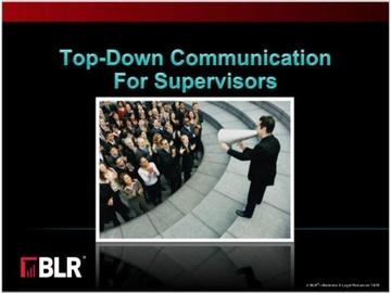 Top-Down Communication for Supervisors (HTML 5)