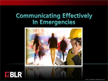 Communicating Effectively in Emergencies (HTML 5) Course