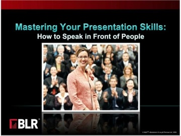 Mastering Your Presentation Skills: How to Speak in Front of People (HTML 5) Course