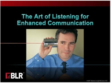The Art of Listening for Enhanced Communication (HTML 5) Course