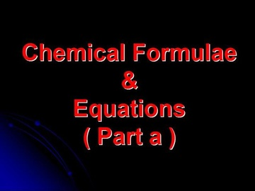 SPM Chemistry Question 1 - Chemical Formulae & Equations (Part a)