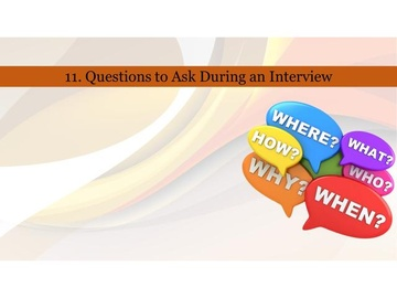 211. Questions to Ask During an Interview