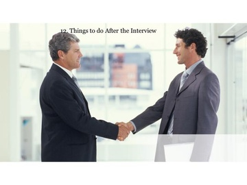 212. Things to do After the Interview