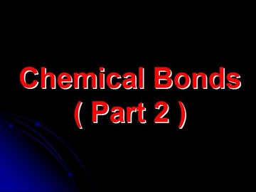 SPM Chemistry Question 2 - Chemical Bonds (Part 2)