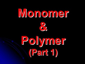 SPM Chemistry Question 5 - Monomer & Polymer (Part 1)
