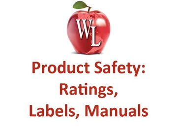Product Safety: Ratings, Labels, Manuals