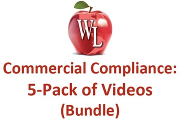 Commercial Compliance: 5-Pack of Videos (Bundle) - Single License