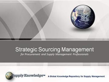 Strategic Sourcing Management Master Certificate