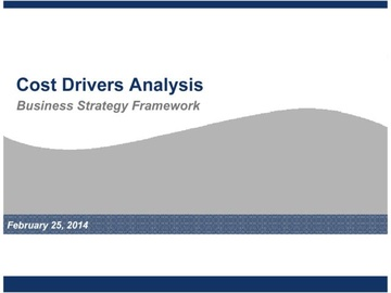 Cost Drivers Analysis