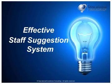 Effective Staff Suggestion System (Kaizen Teian)