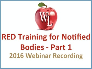 RED Training for Notified Bodies - Part 1 [2016 Webinar Recording] (module)