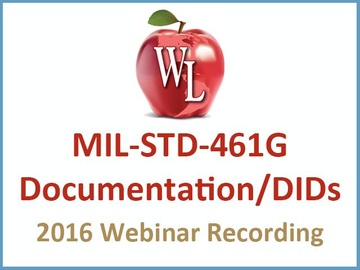 MIL-STD-461: Documentation DIDs [2016 Webinar Recording]