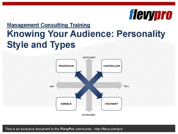Knowing Your Audience: Personality Style and Types