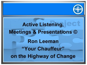 Active Listening, Meetings and Presentations (Course)