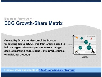 BCG Growth-Share Matrix (Course)