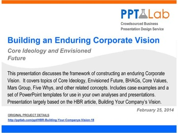 Building an Enduring Corporate Vision (Course)