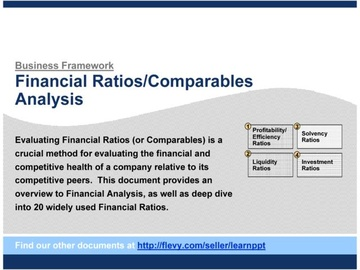 Financial Ratios (Comparables) Analysis (Course)