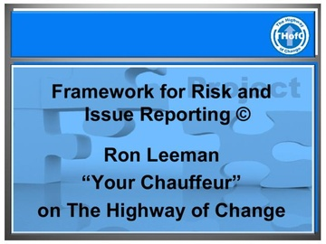 Framework for Risk & Issue Reporting (Course)