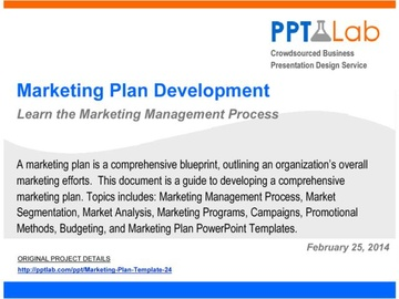 Marketing Plan Development Framework (Course)