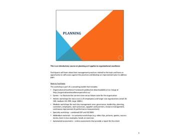 Organizational Excellence Framework - Planning (Course)