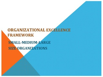 Organizational Excellence Framework Workshops (Course)